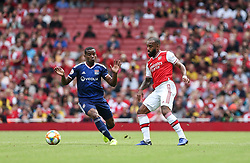 Alexandre Lacazette of Arsenal controls the ball under pressure - Mandatory by-line: Arron Gent/JMP - 28/07/2019 - FOOTBALL - Emirates Stadium - London, England - Arsenal v Olympique Lyonnais - Emirates Cup
