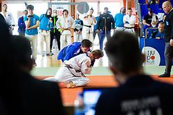 Nik Purnat (white) vs Nejc Skrget (blue) during Judo National Championships 2021 in Balon Hall, Nova Gorica, 20 March 2021, Slovenia. Photo by Grega Valancic / Sportida