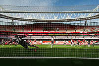 Football - 2020 /2021 Premier League - Arsenal v Fulham - Emirate Stadium<br /> <br /> Fulham's Josh Maja scores the opening goal from the penalty spot.<br /> <br /> COLORSPORT