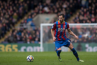 LONDON, ENGLAND - MARCH 31: Luka Milivojević (4) of Crystal Palace  during the Premier League match between Crystal Palace and Liverpool at Selhurst Park on March 31, 2018 in London, England.
