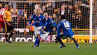 Photo: Leigh Quinnell.<br /> Wolverhampton Wanderers v Leicester City. Coca Cola Championship. 09/12/2006. Levi Porter celebrates getting a late winning goal for Leicester.