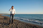 Matteo Salvini nel suo tour in Toscana sulla spiaggia di Cecina(LI)<br /> 22 aprile 2015 . Daniele Stefanini /  OneShot