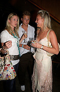 Willa Corbett-Winder, Guy Plumbly and Olivia Buckingham. Polo players party hosted by AJM International Publishing and Cartier celebrating the 21st anniversary of the Cartier International Polo. The Collection, London. ONE TIME USE ONLY - DO NOT ARCHIVE  © Copyright Photograph by Dafydd Jones 66 Stockwell Park Rd. London SW9 0DA Tel 020 7733 0108 www.dafjones.com