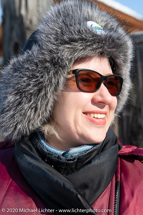 Anna Masliohenko, owner of the Baikal Mile host hotel, the Kumutkan Hotel in Maksimiha, Siberia, Russia. Monday, March 2, 2020. Photography ©2020 Michael Lichter.