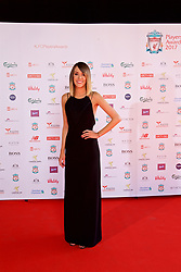LIVERPOOL, ENGLAND - Tuesday, May 9, 2017: Liverpool TV presenter Claire Rourke on the red carpet for the Liverpool FC Players' Awards 2017 at Anfield. (Pic by David Rawcliffe/Propaganda)