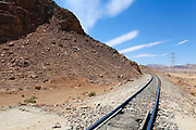 Hejaz (Al-Hijaz) Ottoman train tracks in wadi rum, Jordan