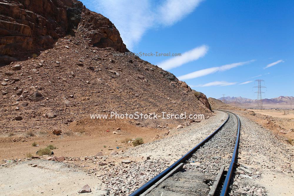 Hejaz (Al-Hijaz) Ottoman train tracks in wadi rum, Jordan