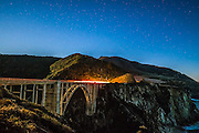 Bixby Creek Bridge at Night in Big Sur California
