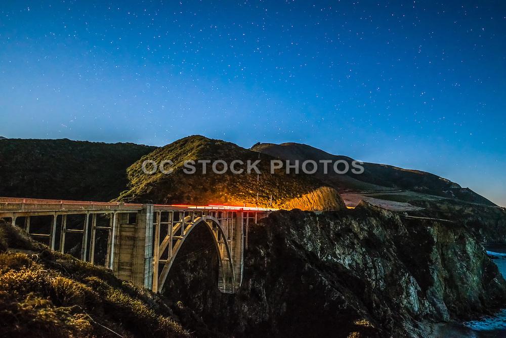 Bixby Creek Bridge at Night in Big Sur California