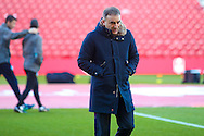 Sheffield Wednesday Manager Carlos Carvalhal pre match during the The FA Cup match between Middlesbrough and Sheffield Wednesday at the Riverside Stadium, Middlesbrough, England on 8 January 2017. Photo by Simon Davies.