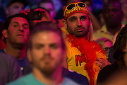 A fan looks on during WrestleMania on April 3, 2016 in Arlington, Texas.