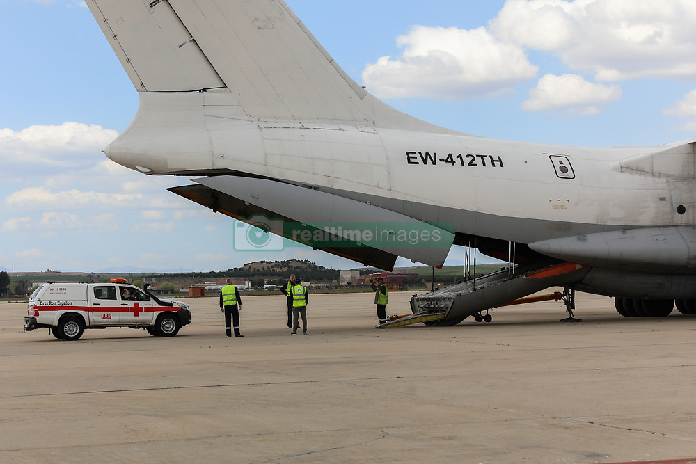 March 23, 2019 - Madrid, Spain - A red Cross car seen being transported to Mozambique with humanitarian aid..Red Cross sends a team of delegates to Eira, one of the main cities in Mozambique affected by cyclone Idai, with five complete water lines, which include purification equipment, laboratory and sanitation equipment. (Credit Image: © Jesus Hellin/SOPA Images via ZUMA Wire)