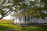 Illinois farmer Gordon Stine's house on his farm in St. Elmo, Illinois.   (Gordon Stine is featured in the book What I Eat; Around the World in 80 Diets.)