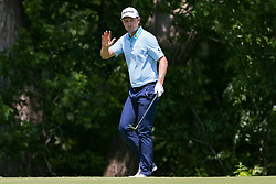 May 25, 2018 - Forth Worth, TX, U.S. - FORT WORTH, TX - MAY 25: Justin Rose of England chips in for birdie on #7 during the second round of the Fort Worth Invitational on May 25, 2018 at Colonial Country Club in Fort Worth, TX. (Photo by Andrew Dieb/Icon Sportswire) (Credit Image: © Andrew Dieb/Icon SMI via ZUMA Press)