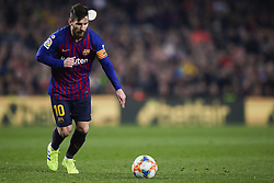 February 6, 2019 - Barcelona, Catalonia, Spain - February 6, 2019 - Camp Nou, Barcelona, Spain - Copa del Rey - FC Barcelona v Real Madrid CF; Lionel Messi of FC Barcelona kicks a free shoot. (Credit Image: © Marc Dominguez/ZUMA Wire)