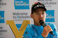 Chris Lawless of Team Ineos during the post race press conference stage four of the Tour de Yorkshire from Halifax to Leeds, , United Kingdom on 4 May 2019.