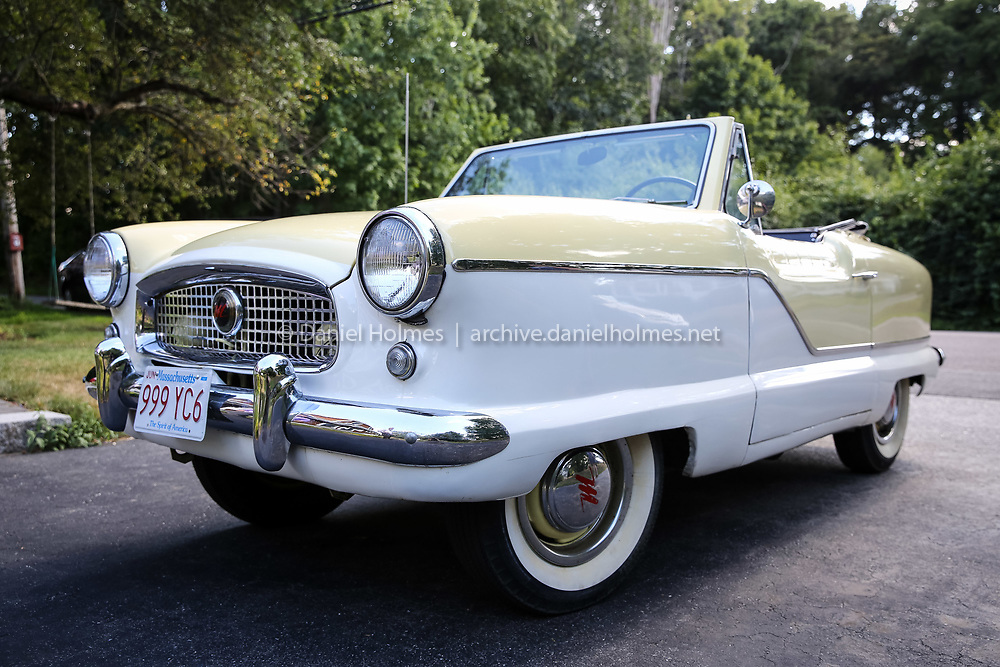 (7/26/16, NATICK, MA) Beth Byrne's 1959 Nash Metropolitan at her home in Natick on Tuesday. Daily News and Wicked Local Photo/Dan Holmes