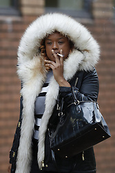 © Licensed to London News Pictures. 08/11/2016. London, UK. Shanique Pearson leaves Hammersmith Magistrates' Court. Ms Pearson has pleaded not guilty to various motoring offences after she was filmed confronting BBC broadcaster Jeremy Vine who was cycling in front of her car in August this year in Kensington.  Photo credit: Peter Macdiarmid/LNP