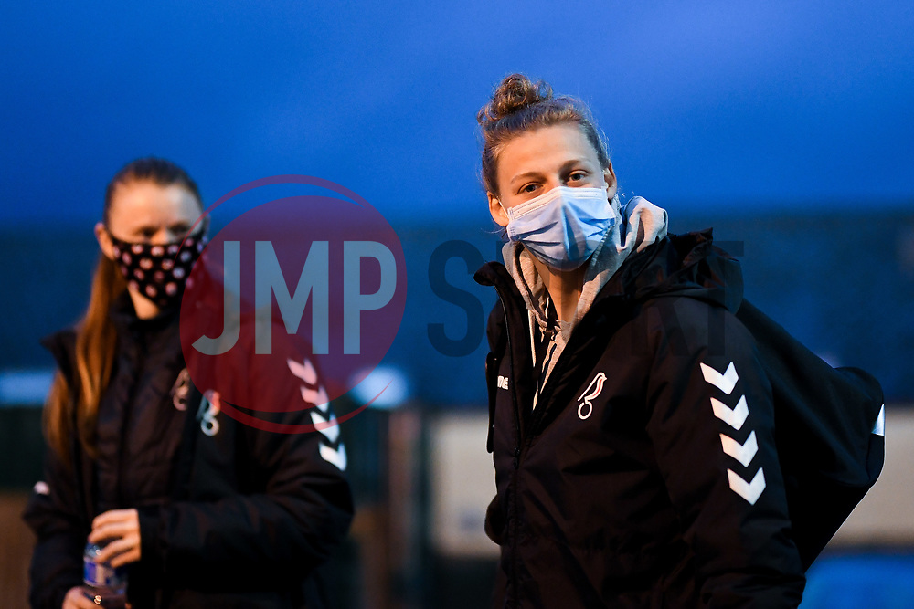 Yana Daniels of Bristol City Women arrives at Twerton Park prior to kick off - Mandatory by-line: Ryan Hiscott/JMP - 14/11/2020 - FOOTBALL - Twerton Park - Bath, England - Bristol City Women v Tottenham Hotspur Women - Barclays FA Women's Super League