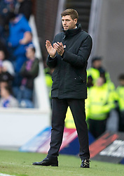 Rangers' manager Stephen Gerrard during the Ladbrokes Scottish Premiership match at Ibrox Stadium, Glasgow. PRESS ASSOCIATION Photo. Picture date: Sunday November 11, 2018. See PA story SOCCER Rangers'. Photo credit should read: Jeff Holmes/PA Wire. EDITORIAL USE ONLY