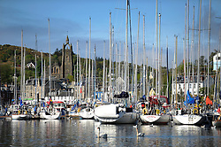 The Clyde Cruising Club's Scottish Series held on Loch Fyne by Tarbert. .Day 3 racing initially postponed awaiting  a light southerly...Tarbert Harbour