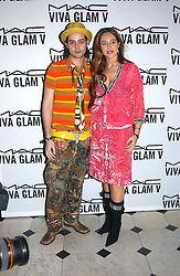 ROCKY MAZZILLI and TATUM MAZZILLI at a party to celebrate Pamela Anderson's new role as spokesperson and newest face of the MAC Aids Fund's Viva Glam V Campaign held at Home House, Portman Square, London on 21st April 2005.<br /><br />NON EXCLUSIVE - WORLD RIGHTS