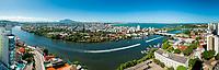 Brasil - ES - Vitoria - Vista Panoramica da Baia de Vitoria. Foto: David Protti.