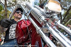 Warren Lane's True Grit Antique Gathering bike show at the Broken Spoke Saloon in Ormond Beach during Daytona Beach Bike Week, FL. USA. Sunday, March 10, 2019. Photography ©2019 Michael Lichter.