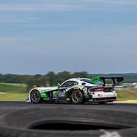Alton, VA - Aug 26, 2016:  The Riley Motorsport SRT Viper GT3-R races through the turns at the Oak Tree Grand Prix at Virginia International Raceway in Alton, VA.