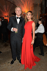 MYLEENE KLASS and SIMON MOTSON at Save the Children's spectacular, black tie Winter Gala, a festive fundraising event held at London's Guildhall. Guests were transported into the magical world of the much-celebrated British novelist, Roald Dahl, in celebration of his centenary, for a marvellous evening of fine dining and gloriumtious entertainment to raise money to help transform children's lives across the world and here in the UK.