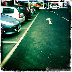 Car Park..Hipstamatic images taken on an Apple iPhone..©Michael Schofield.