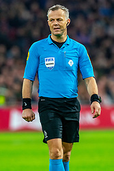 Referee Bjorn Kuipers in action during the match between Ajax and PSV at Johan Cruyff Arena on February 02, 2020 in Amsterdam, Netherlands