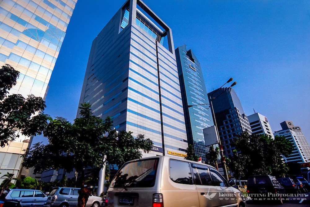 Indonesia, Java, Jakarta. Jakarta with around 10 million inhabitants had a huge economic growth in the 1990s, until the Asia crisis turned Indonesia close to bankrupcy.