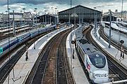 France, Paris, Gare  du Nord, TGV high speed train