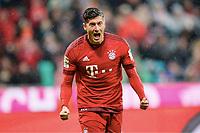 1:0 Jubel Torschuetze Robert Lewandowski (Bayern) <br /> Muenchen, 31.01.2016, Fussball Bundesliga, FC Bayern München - TSG 1899 Hoffenheim<br /> Norway only