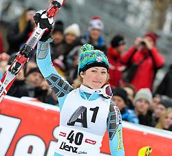 29-12-2011 SKIEN: FIS WORLD CUP: LIENZ<br /> Mikaela Shiffrin USA // during Giant Slalom second Run at FIS Ski Worldcup at Worldcupcourse Hochstein in Lienz<br /> **NETHERLANDS ONLY** <br /> ©2011-FotoHoogendoorn.nl/EXPA/M. Gruber