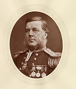 'Bedford Clapperton Trevelyan Pim (1826-1886) c1880, British Royal Naval officer, barrister and explorer. Conservative Member of Parliament for Gravesend 1874-1880: made Rear-Admiral 1885.'