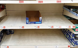 "© Licensed to London News Pictures. 22/12/2020. London, UK. Empty shelves of Tuna Chunks in Sainsbury's supermarket in north London. A number of supermarkets have warned that some items may run low this week. Prime Minister Boris Johnson urged in a press conference for people to ""shop normally"". It came after France closed the borders - banning UK travellers to their country, to stop the spread of the new variant of Covid-19. Photo credit: Dinendra Haria/LNP"