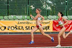Paula Habovstiakova of Slovakia and Matea Matosevic of Croatia during the women's 1500m at athletics meeting Ljubljana Grand Prix 2010 for 5th Memorial Matic Sustersic and Patrik Cvetan on August 29, 2010, in Ljubljana, Slovenia. (Photo by Matic Klansek Velej / Sportida)