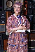 Presentatie DVD Ladies of Soul 2015 in de Ziggo Dome, Amsterdam.<br /> <br /> Op de foto:  Jorgen Raymann als tante Es