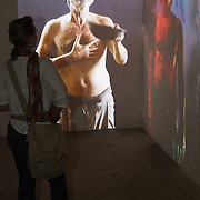 """VENICE, ITALY - JUNE 02:  """"Destnuej"""" a video by  artist Azad Nanakeli at the Iraq pavillion on June 2, 2011 in Venice, Italy. This year's Biennale is the 54th edition and will run from June 4th until 27 November."""
