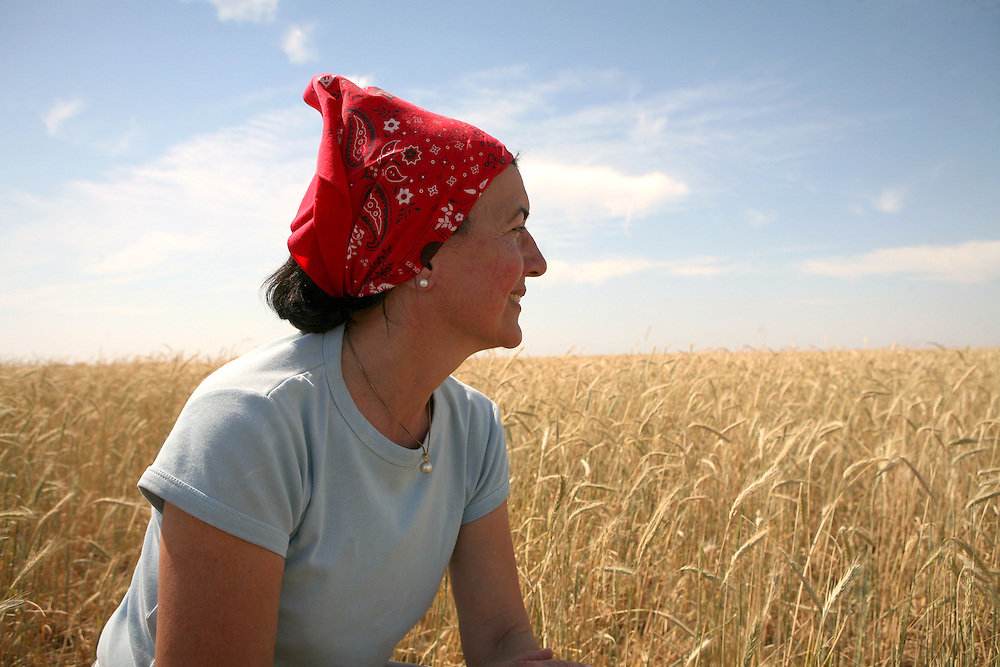 Norma D'Ippolito, renowned Argentinian sculptor & beef producer, on her land, Las Pampas