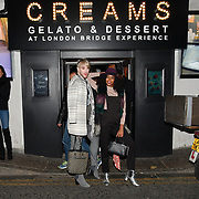 Lewis-Duncan Weedon and Annaliese Dayes attend Press night an halloween experience at  London Tombs at The London Bridge Experience, UK. 18 October 2018.