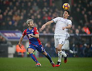 Crystal Palace's Yohan Cabaye tussles with Chelsea's Nemanja Matic during the Premier League match at Selhurst Park Stadium, London. Picture date December 17th, 2016 Pic David Klein/Sportimage