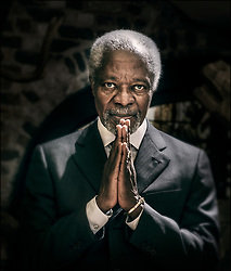 File Photo - File picture of Kofi Annan Hotel posing at the Royal Monceau in Paris, France on December 13, 2013. Kofi Annan, the former UN secretary-general who won the Nobel Peace Prize for humanitarian work, has died aged 80, his aides say. Photo by Renaud Khanh/ABACAPRESS.COM