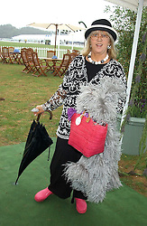 Interior designer TESSA KENNEDY at the 2005 Cartier International Polo between England & Australia held at Guards Polo Club, Smith's Lawn, Windsor Great Park, Berkshire on 24th July 2005.<br /><br />NON EXCLUSIVE - WORLD RIGHTS