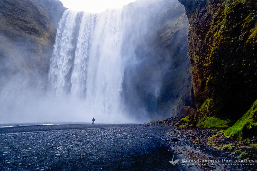 Skógafoss is one of the biggest waterfalls on Iceland.