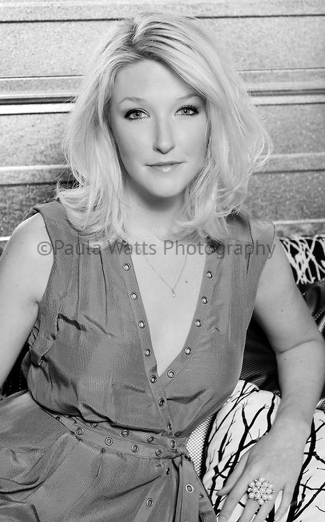 San Diego California professional advertising photographer Model in fashion designer's dress