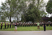 The Oregon Marching Band competes in Janesville, Wisconsin on June 21, 2009.