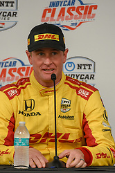 March 23, 2019 - Austin, TX, U.S. - AUSTIN, TX - MARCH 23: Ryan Hunter-Reay (28) of Andretti Autosport driving a Honda speaks during a press conference following the IndyCar afternoon qualifications at Circuit of the Americas on March 23, 2019 in Austin, Texas. (Photo by Ken Murray/Icon Sportswire) (Credit Image: © Ken Murray/Icon SMI via ZUMA Press)